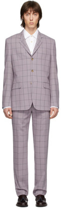 Paul Smith Purple Check Loro Piana Suit