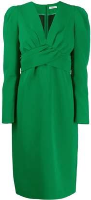 P.A.R.O.S.H. pleated cross dress