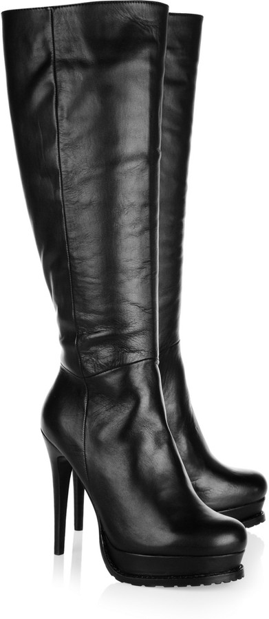 DKNY Leather knee boots