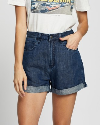 Lee Women's Blue Denim - Stevie Shorts - Size 8 at The Iconic