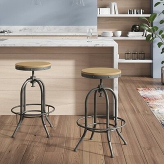 Trent Austin Design Boricco Adjustable Height Bar Stool Trent Austin Design