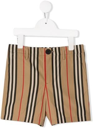 Burberry Icon Stripe Cotton Chino Shorts