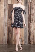 J.o.a. Floral Off The Shoulder Dress