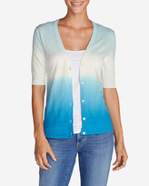 Eddie Bauer Women's Christine Dip-Dye V-Neck Cardigan Sweater
