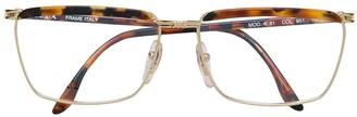Krizia Pre-Owned Tortoiseshell Square Glasses