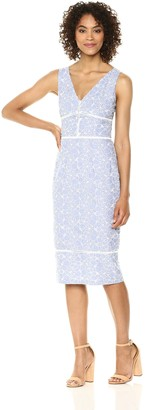 Maggy London Women's Novelty Embroidered Sheath Dress