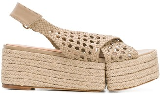 Paloma Barceló Braided Open-Toe Sandals