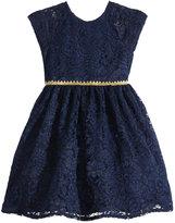 Laura Ashley Metallic-Trim Lace Dress, Toddler Girls (2T-5T)