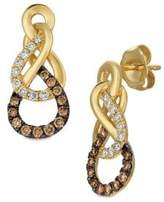 LeVian Le Vian Chocolatier Figure Eight Vanilla & Chocolate Diamond Earrings