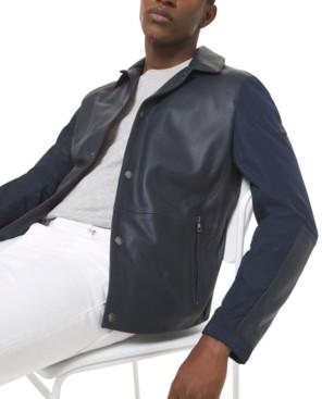 Michael Kors Men's Leather Coach Jacket