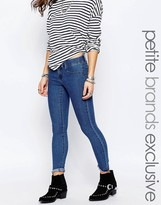 Noisy May Petite Paris Mid Blue Jegging