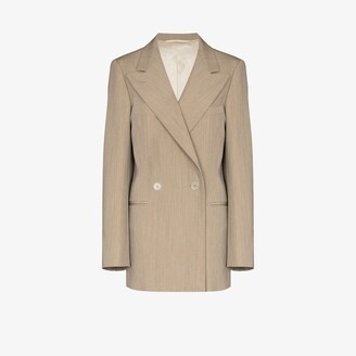 Lemaire Oversized Double-Breasted Wool Gabardine Blazer