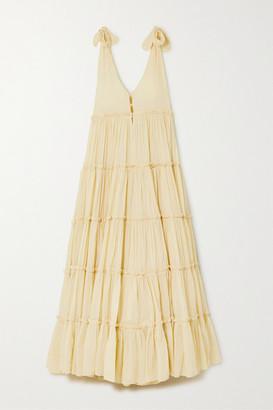 Innika Choo Rayleigh Grait Tiered Cotton-voile Maxi Dress