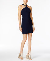 GUESS Open-Back Crisscross Halter Dress