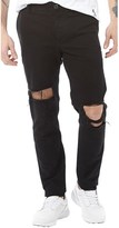 Religion Mens Bloody Ripped Chinos Black