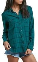 Volcom Street Dreaming Plaid Cotton Shirt