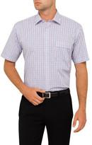 Van Heusen Short Sleeve 2 Colour Check Classic Fit Shirt