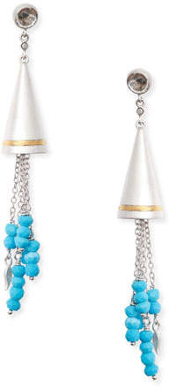 Coomi Vitality Beaded Turquoise Cone Earrings