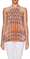 BCBGeneration Pleated Print A Line Blouse