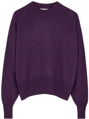 The Row Ophelia purple cashmere and cotton-blend jumper