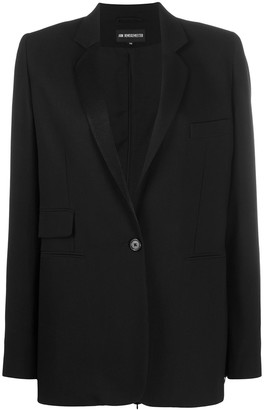 Ann Demeulemeester One-Button Blazer