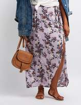 Charlotte Russe Plus Size Floral Maxi Skirt