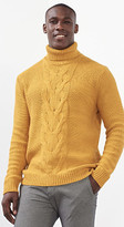 Esprit Chunky cable knit polo neck, wool blend
