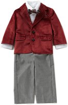 Starting Out Baby Boys 12-24 Months Velvet Jacket, Button-Down Shirt, & Pants 3-Piece Set
