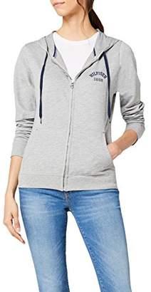 Tommy Hilfiger Women's ZIP THRU HOODY Sports Hoodie, Grey - Grau (GREY HEATHER BC05 004), (Manufacturer Size: 38)