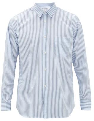 Comme des Garcons Shadow-striped Cotton-poplin Shirt - Mens - Blue White