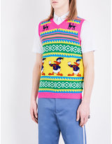 Gucci Donald Duck-knit Wool Gilet