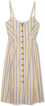 Vince Camuto Striped Button-front Sundress