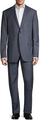 Corneliani Standard-Fit Windowpane Virgin-Wool Suit
