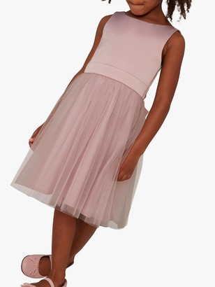 Chi Chi London Girls Zeina Dress - Mink