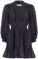 Zimmermann Prima Dot Mini Dress in Mink Dot
