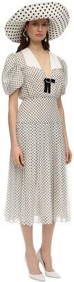 MARIANNA SENCHINA Printed Chiffon Mdi Dress