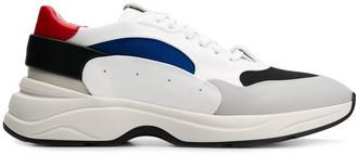 Santoni colour-block sneakers