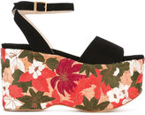 Paloma Barceló embroidered platform sandals - women - Leather - 36