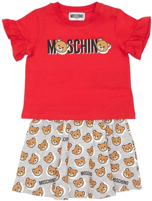 Moschino Cotton Jersey T-shirt & Skirt