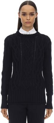 Thom Browne Crewneck Merino Wool Knit Sweater