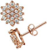 Giani Bernini Cubic Zirconia Pave Starburst Stud Earrings in 18k Rose Gold-Plated Sterling Silver, Created for Macy's