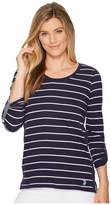 U.S. Polo Assn. Long Sleeve Stripe Patch T-Shirt