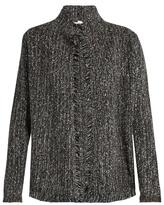 Velvet by Graham & Spencer Flynn frayed-hem jacket