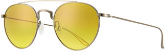 Barton Perreira Men's Metal Round Aviator Sunglasses