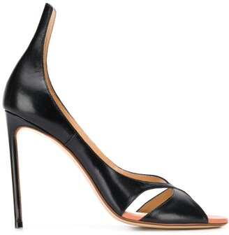 Francesco Russo Crossover 115mm Leather Sandals