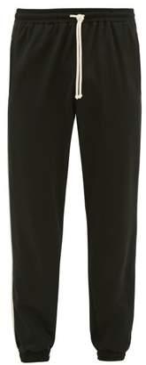 Gucci Gg-jacquard Side-stripe Technical Track Pants - Mens - Black