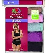 Fruit of the Loom Women's 5 Pack Microfiber Brief Panties