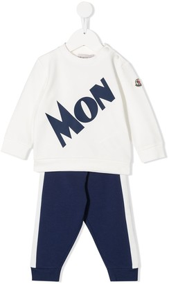 Moncler Enfant Logo Two-Piece Tracksuit Set