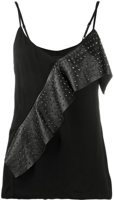 John Richmond Junior Stud-Embellished Ruffled Vest