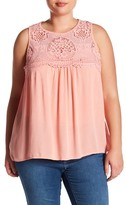 Jolt Lace Yoke Tank (Plus Size)